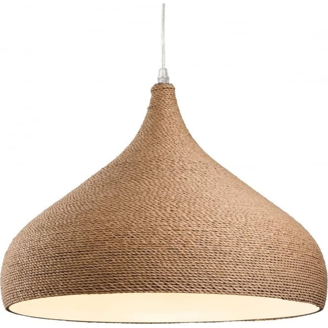FirstLight 3441 Coast 1 Light Ceiling Pendant Brown