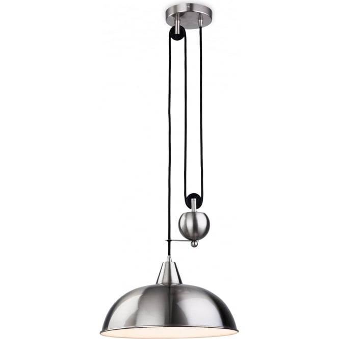 FirstLight 2309BS Century 1 Light Ceiling Pendant Brushed Steel