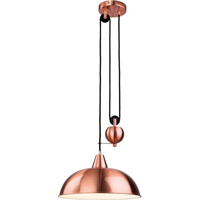 FirstLight 2309CP Century 1 Light Ceiling Pendant Brushed Copper