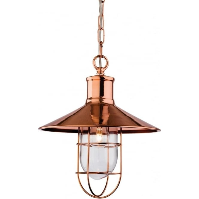 FirstLight 2306CP Crescent 1 Light Ceiling Pendant Copper