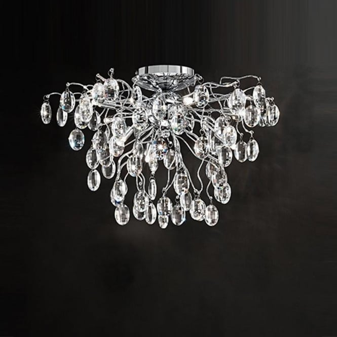 Franklite FL2326/8 Wisteria 8 Light Ceiling Light Chrome
