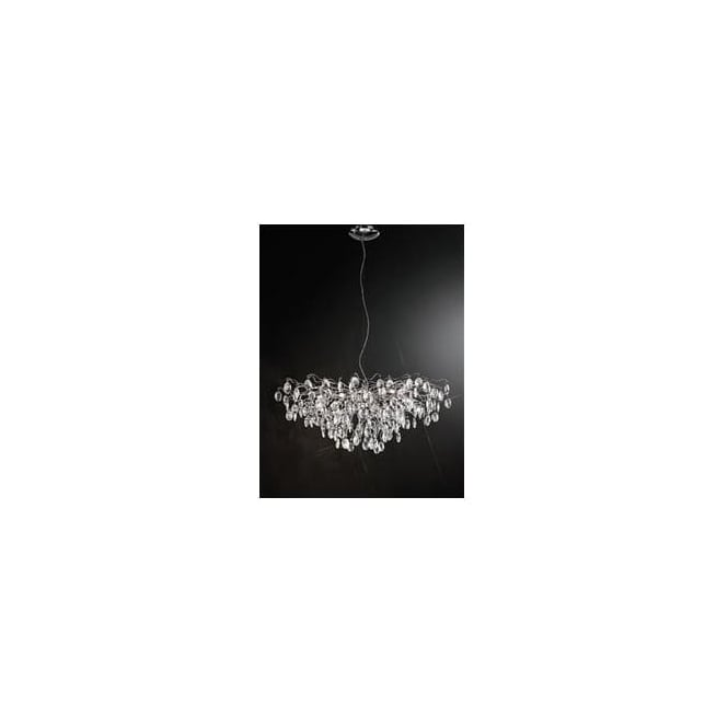Franklite FL2326/15 Wisteria 15 Light Ceiling Light Chrome