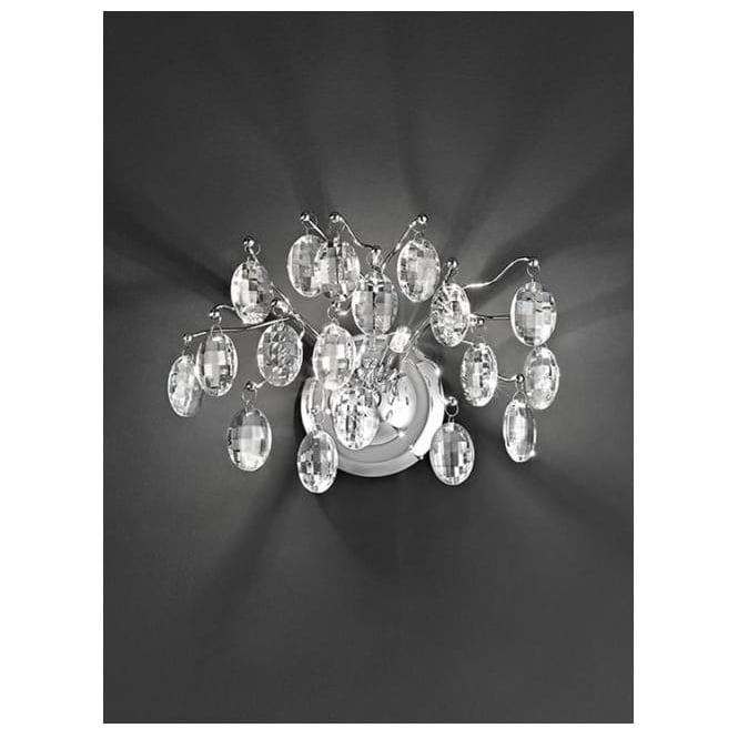 Franklite FL2326/2 Wisteria 2 Light Ceiling Wall Light Chrome