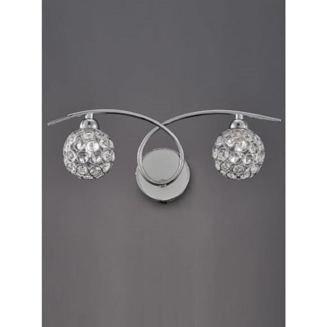 Franklite FL2308/2 Oracle 2 Light Switched Wall Light Chrome