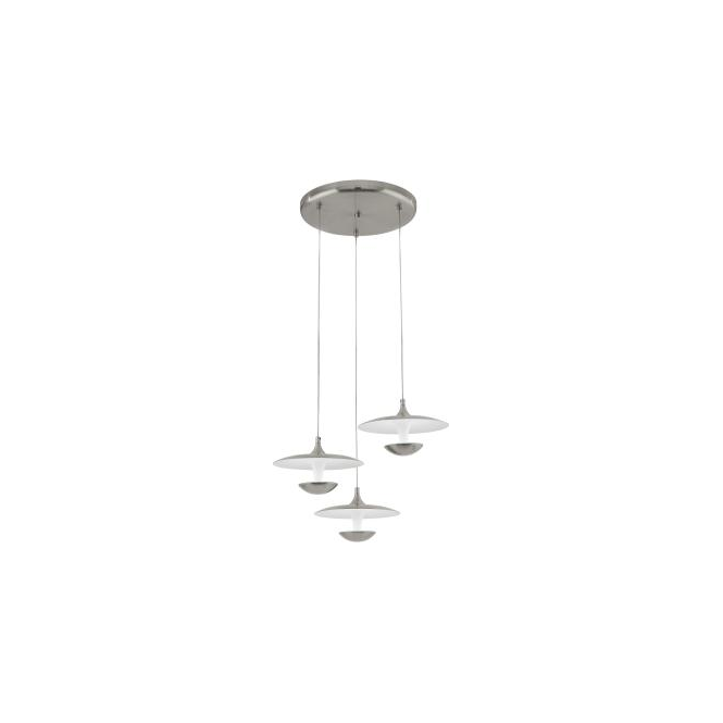 Eglo 95956 Toronja 3 Light Ceiling Light Matt Nickel
