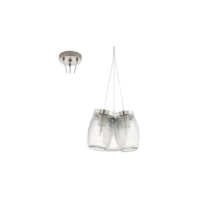 Eglo 94671 Varmo 3 Light Ceiling Pendant Matt Nickel