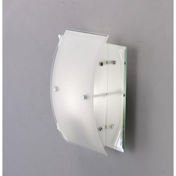 Diyas IL30990 Vito 1 Light Wall Light Polished Chrome/Smoked Mirror