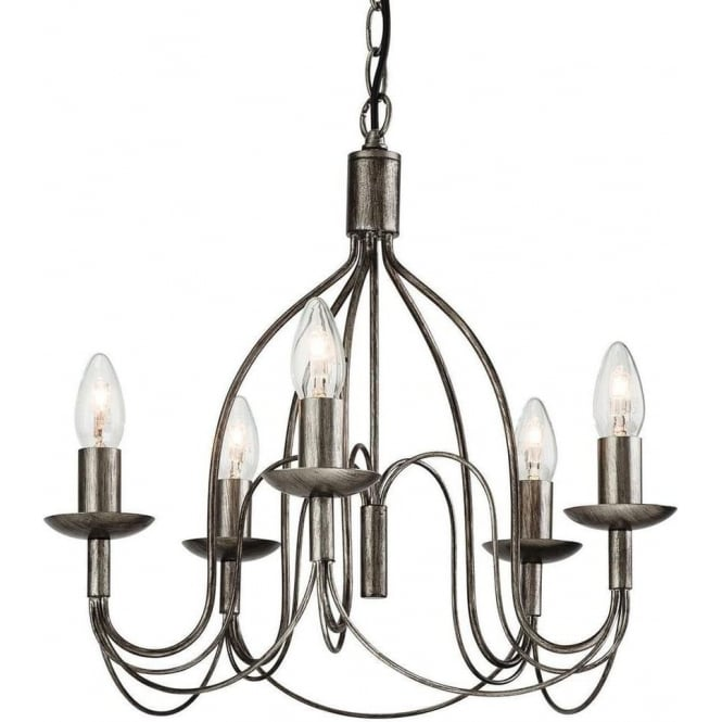 FirstLight 2317AS Regency 5 Light Ceiling Light Antique Silver
