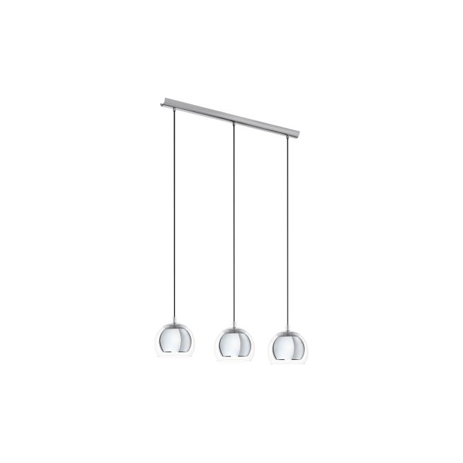 Eglo 94593 Rocamar 3 Light Ceiling Light Polished Chrome