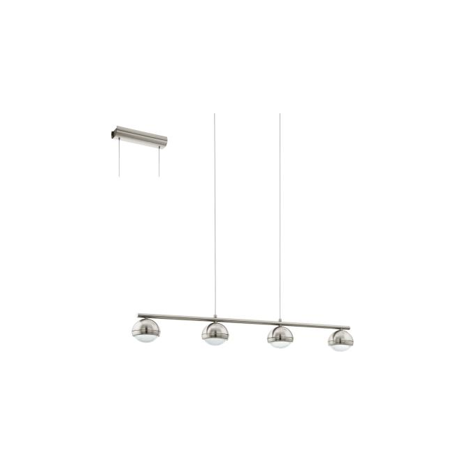 Eglo 94299 Lombes 4 Light Bar Ceiling Pendant Satin Nickel