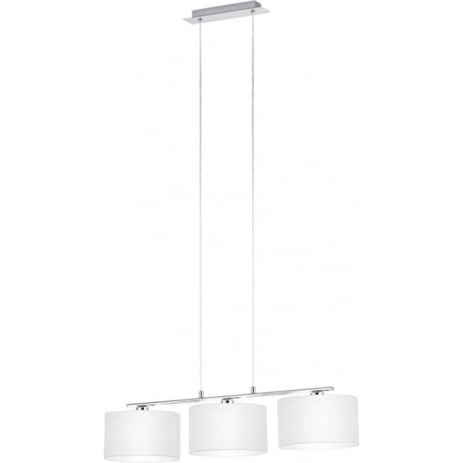 Eglo 39219 Dolorita Pendulum 3 Light Polished Chrome White