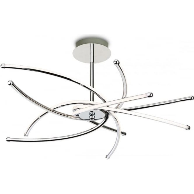 FirstLight 4852CH Caprice LED Flush Ceiling Light Polished Chrome