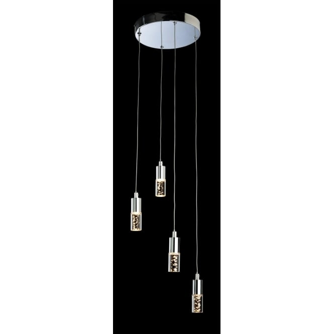 FirstLight 4885CH Focus LED 4 Light Pendant Polished Chrome