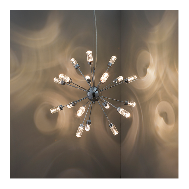 Endon 73046 Glacier LED Ceiling Pendant Chrome