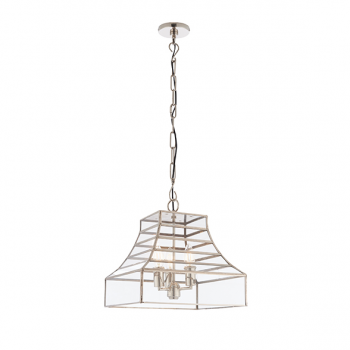 Endon 73127 Dempsey 3 Light Ceiling Pendant Stainless Steel