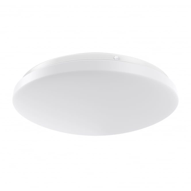 Dar ORO4850 Orora 1 Light LED Flush Ceiling Light White IP44