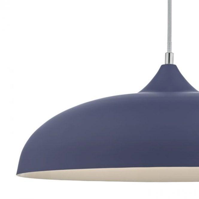 Kaelan 1-Light Ceiling Pendant Grey 30 H x 45 W x 45cm D Dar Lighting NEW L
