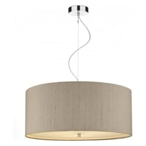 REN1001 Renoir 3 Light Small Ceiling Pendant Taupe