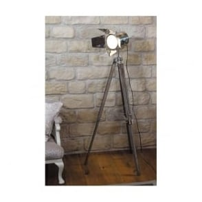 32-012-C Hereford Tripod Film Floor Lamp Wood/Metal