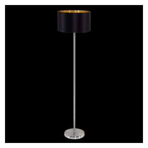 95169 Maserlo 1 Light Floor Lamp Glossy Black