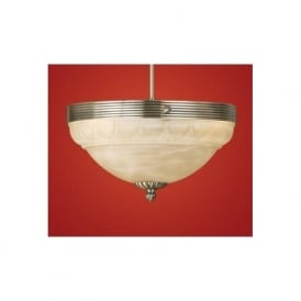 85856 Marbella 3 light traditional ceiling light flush burnished brass finish