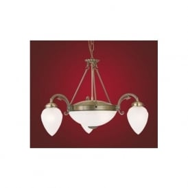 82742 Imperial 5 light traditional ceiling light pendant burnished brass finish