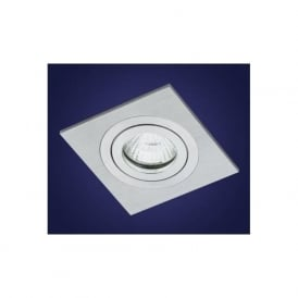 90054 Terni 1 light modern recessed spotlight brushed aluminium finish