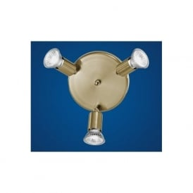 81779 Mini 3 light modern spotlight ceiling light adjustable antique brass finish
