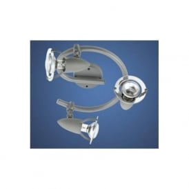 82414 Lydia 3 light modern swirl spotlight ceiling light silver finish