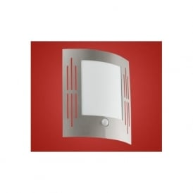 88144 CITY 1 light modern low energy outdoor wall light stainless steel finish ip33 rated (with sensor)