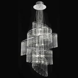 CAMILLE-24CH Camille 24 Light Glass Chandelier Chrome