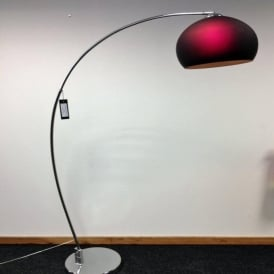 LRFLOORPURPLE 1 Light Modern Floor Lamp Purple And Polished Chrome