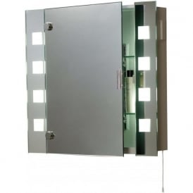 EL-MILOS 2 Light Switched Low Energy Bathroom Mirror Cabinet IP44