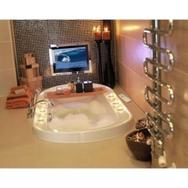 TV/22/BA2/FR2/B 22 Inch Bathroom Waterproof Television LCD Freeview TV Black Finish