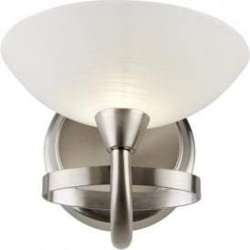 CAGNEY-1WBSC Cagney 1 Light Wall Light Satin Chrome