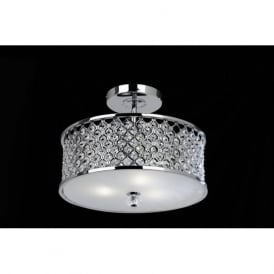 HUDSON-3CH Hudson 3 Light Crystal Ceiling Light Chrome