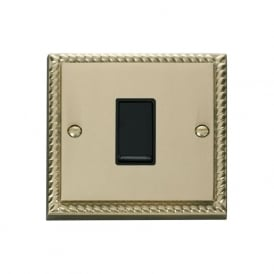Georgian Cast Brass GCBR025 1 Gang Intermediate Light Switch