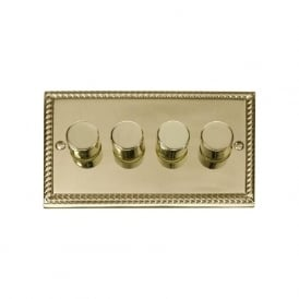 Georgian Cast Brass GCBR154 4 Gang 2 Way 400W Dimmer Switch
