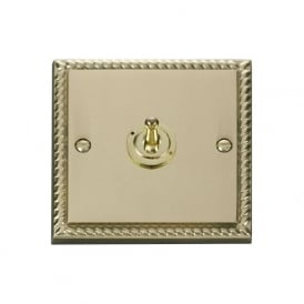 Georgian Cast Brass GCBR421 1 Gang 2 Way 10ax Single Toggle Switch