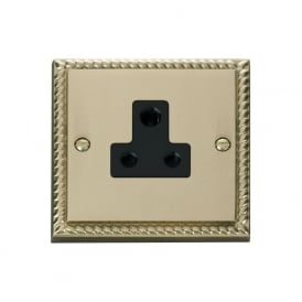 Georgian Cast Brass GCBR038 5A Round Pin Socket Outlet