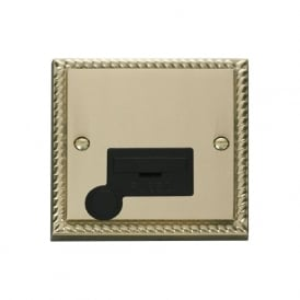 Georgian Cast Brass GCBR050 13A Fused Connection Unit with Flex Outlet