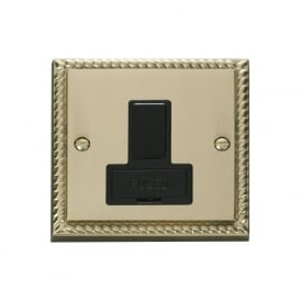 Georgian Cast Brass GCBR651 13A Fused Switched Connection Unit