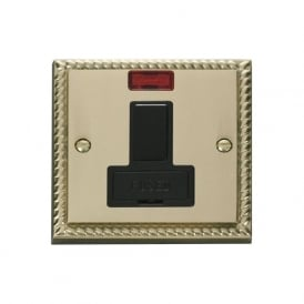 Georgian Cast Brass GCBR652 13A Fused Switched Connection Unit with Neon