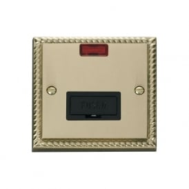 Georgian Cast Brass GCBR653 13A Fused Connection Unit with Neon
