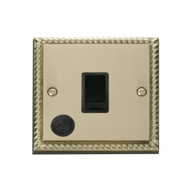 Georgian Cast Brass GCBR022 20A DP Switch with Flex Outlet