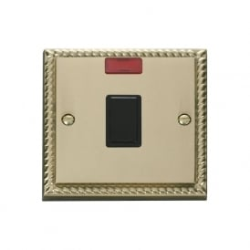 Georgian Cast Brass GCBR623 20A DP Switch with Neon