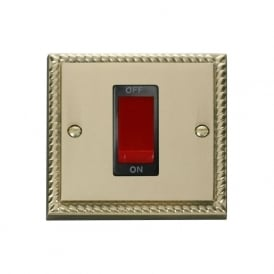 Georgian Cast Brass GCBR200 45A DP Switch