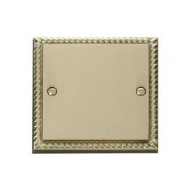 Georgian Cast Brass GCBR060 1 Gang Blank Plate