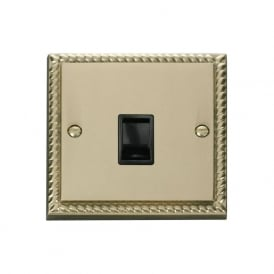 Georgian Cast Brass GCBR115 Single RJ11 Data Outlet Socket