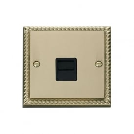 Georgian Cast Brass GCBR125 Single Telephone Socket - Secondary